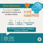 #VeníHablemos Una estrategia para mejorar la salud mental y la convivencia de las mujeres caldeñas.