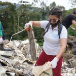 Recolección de basura y limpieza en la vereda Sinifaná,
